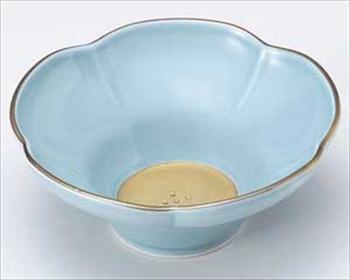 五釉金(水色) 花型小鉢