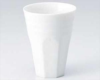軽量白磁けずりフリーカップ