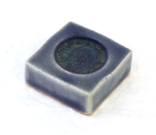 手造り藍釉四角