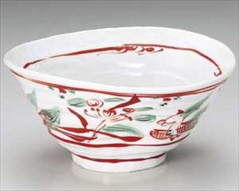 赤絵万暦鳳凰7.0変形鉢