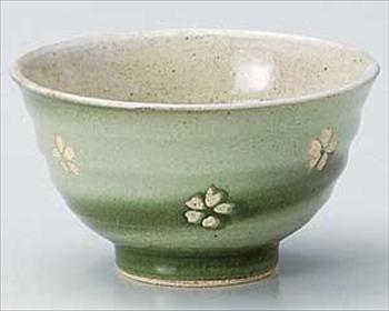 春うららグリーン新茶碗
