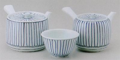 立枠大角急須&中丸急須&煎茶(厚口)