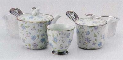 古染おとずれ(青)中急須(U)&小急須(U)&煎茶