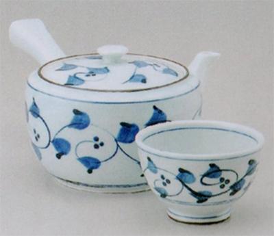 唐草大急須(M)&煎茶(厚口)