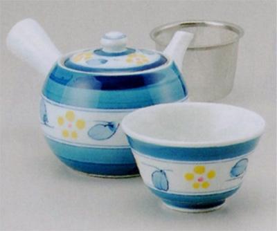 間取梅帯中急須(U)&煎茶(厚口)