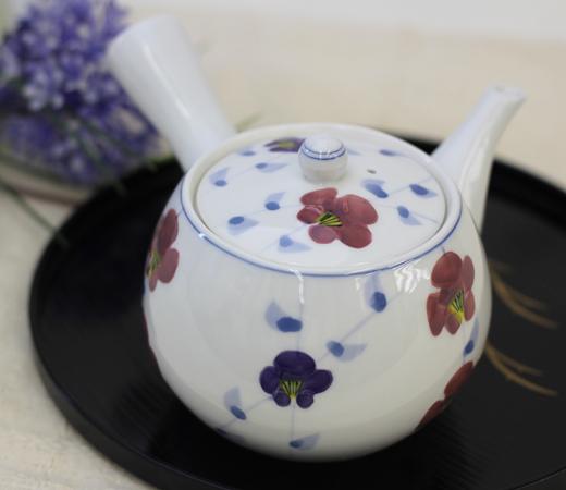 しだれ梅中急須&煎茶(厚口)
