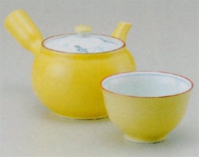 黄釉草花 M急須&仙茶