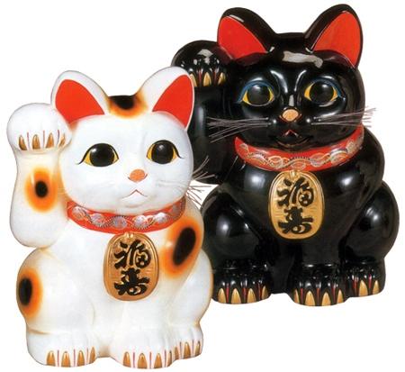 白福猫・黒福猫(右手) 20号