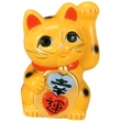 幸運招きハート猫 黄5号