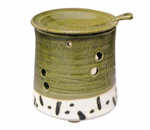 茶香炉 織部