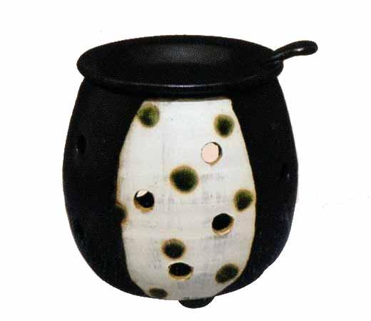 茶香炉 黒釉