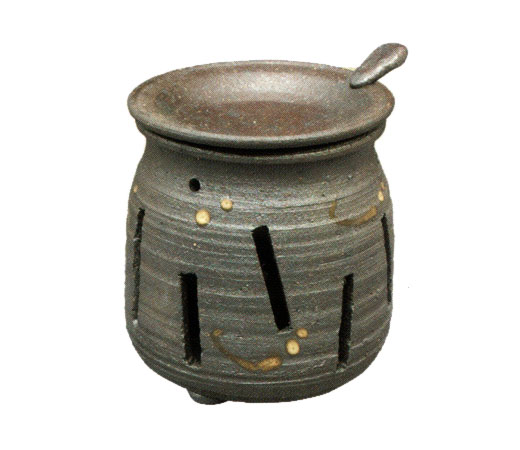 茶香炉 焼締め